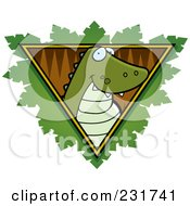 Royalty Free RF Clipart Illustration Of A Safari Crocodile Logo by Cory Thoman
