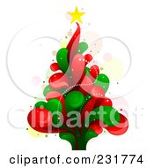 Royalty Free RF Clipart Illustration Of A Splash Christmas Tree by BNP Design Studio