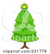 Royalty Free RF Clipart Illustration Of A Dress On A Mannequin Christmas Tree