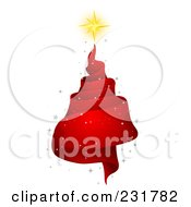 Royalty Free RF Clipart Illustration Of A Red Spiral Ribbon Christmas Tree