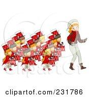 Christmas Woman With Twelve Drummers Drumming