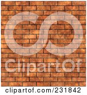 Royalty Free RF Clipart Illustration Of A Seamless Brown Brick Wall Background