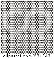 Royalty Free RF Clipart Illustration Of A Background Of Seamless Metal Mesh Over White by Arena Creative
