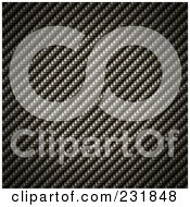 Royalty Free RF Clipart Illustration Of A Tight Woven Carbon Fiber Background