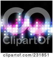 Royalty Free RF Clipart Illustration Of A Background Of Glowing Equalizer Beats On Black