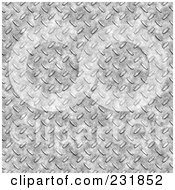 Royalty Free RF Clipart Illustration Of A Diamond Plate Texture Background 1