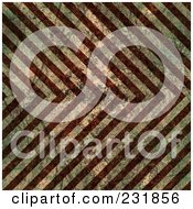 Royalty Free RF Clipart Illustration Of A Seamless Grungy Scratched And Worn Background Of Stripes