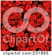 Royalty Free RF Clipart Illustration Of A Seamless Red Blood Cell Background by Arena Creative