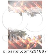Royalty Free RF Clipart Illustration Of A Grungy Stripes And Scribble Background With White Copyspace
