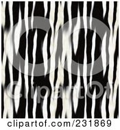 Royalty Free RF Clipart Illustration Of A Seamless Background Of Blurred Black And White Zebra Stripes