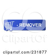 Royalty Free RF Clipart Illustration Of A Blue Remover Shopping Cart Button by oboy