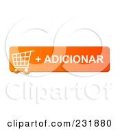 Royalty Free RF Clipart Illustration Of An Orange Adicionar Shopping Cart Button