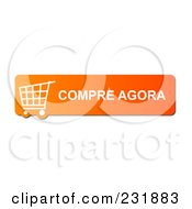 Royalty Free RF Clipart Illustration Of An Orange Compre Agora Buy Now Shopping Cart Button