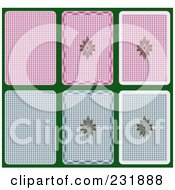 Royalty Free RF Clipart Illustration Of Playing Card Backs by Frisko