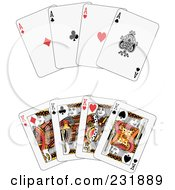 Royalty Free RF Clipart Illustration Of A Digital Collage Of Aces And Kings by Frisko