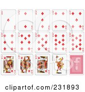 Royalty Free RF Clipart Illustration Of A House Of Diamond Playing Cards