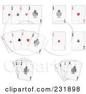 Royalty Free RF Clipart Illustration Of A Digital Collage Of Aces