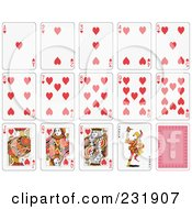 Royalty Free RF Clipart Illustration Of A House Of Heart Playing Cards