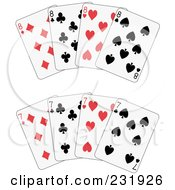 Royalty Free RF Clipart Illustration Of A Digital Collage Of Sevens And Eights