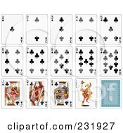 Royalty Free RF Clipart Illustration Of A House Of Club Playing Cards