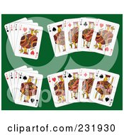 Royalty Free RF Clipart Illustration Of A Digital Collage Of Jack Playing Cards 2