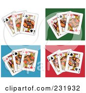 Royalty Free RF Clipart Illustration Of A Digital Collage Of Jack Playing Cards 4