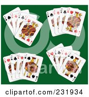 Royalty Free RF Clipart Illustration Of A Digital Collage Of Jack Playing Cards 3
