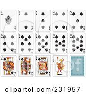 Royalty Free RF Clipart Illustration Of A House Of Spade Playing Cards