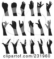 Digital Collage Of Black And White Hands 3