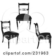 Digital Collage Of Black And White Chairs 1