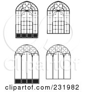 Royalty Free RF Clipart Illustration Of A Digital Collage Of Wrought Iron Designs 3 by Frisko