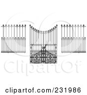 Royalty Free RF Clipart Illustration Of A Digital Collage Of Wrought Iron Designs 1 by Frisko