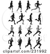 Digital Collage Of Black And White Men Running