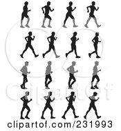 Royalty Free RF Clipart Illustration Of A Digital Collage Of Black And White People Marching by Frisko