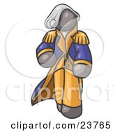 Clipart Illustration Of A Gray George Washington Character