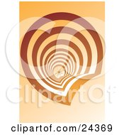 Clipart Illustration Of An Abstract Downwards View Of A Spiraling Staircase All The Way Down To The First Floor