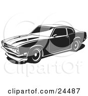 Clipart Illustration Of A 1972 Maverick Muscle Car Made By Ford As Seen Nearly In Profile
