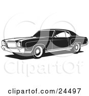 Clipart Illustration Of A 1970 Chevy Monte Carlo Muscle Car With White Wall Tires