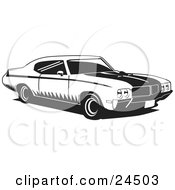 1970 Muscle Car Made By Buick, With Racing Stripes