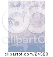 Clipart Picture Of A Faded Love Letter Written On A Page With Flowers Sunbursts And Butterflies by Eugene
