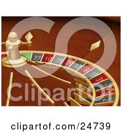 Clipart Illustration Of A Spinning Roulette Wheel In A Casino