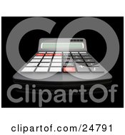 Clipart Illustration Of An Accountants Black Calculator With Red Black And Gray Buttons