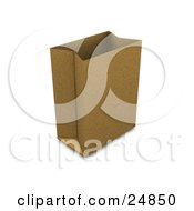 Clipart Illustration Of A Paper Bag Standing Up Propped Open And Ready For Grocery Bagging