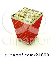 Red And Gold Bucket Of Buttered Movie Popcorn