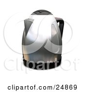 Clipart Illustration Of A Silver Coffee Percolator Or Caffettiera On A Kitchen Counter