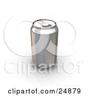Clipart Illustration Of A Tin Soda Can Without A Label And The Tab Popped Opena by KJ Pargeter
