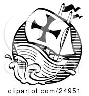 Clipart Picture Of The Mayflower Ship Transporting Pilgrims To America