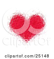 Clipart Illustration Of A Textured Pink Heart Over A White Background