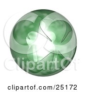 Clipart Illustration Of A Big St Paddys Day Orb With A Clover Design by KJ Pargeter