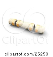 Clipart Illustration Of A White And Gold Christmas Gift Cracker by KJ Pargeter